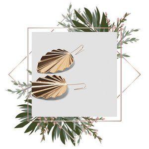Zara gold leaf Aruba earrings
